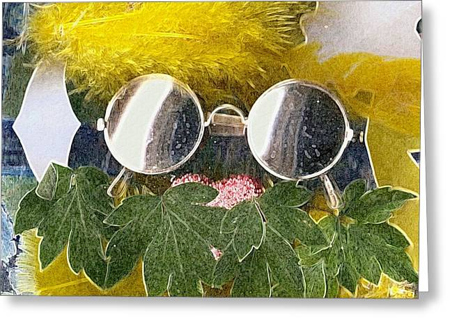 Acryl Greeting Cards - Materials and eyeglasses Greeting Card by Pepita Selles