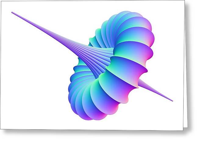 Mathematical Model, Computer Artwork Greeting Card by Pasieka