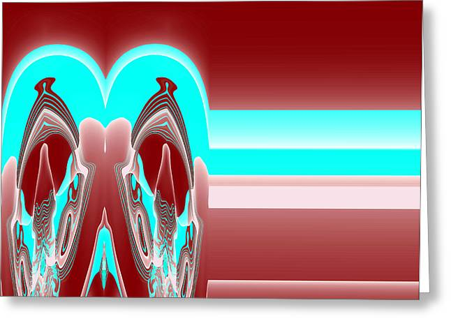 Abstract Style Greeting Cards - Mathessa No.3 Greeting Card by Danny Lally