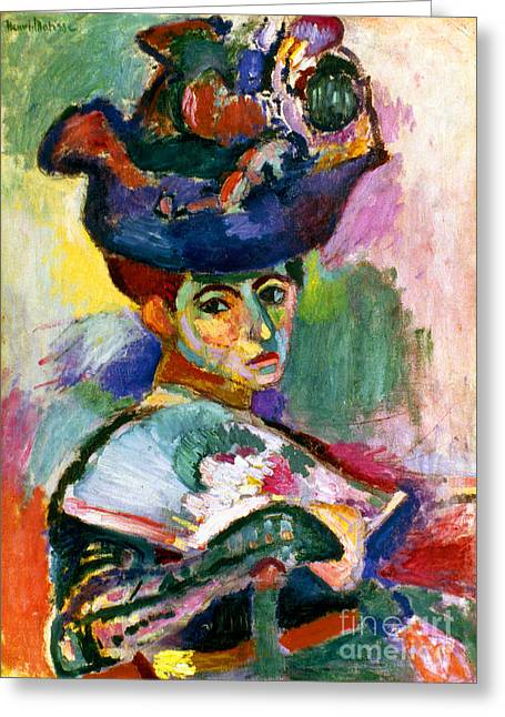 Modern Art Photographs Greeting Cards - Matisse: Woman W/hat, 1905 Greeting Card by Granger