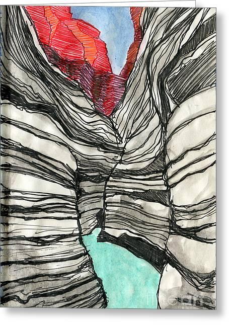 Sketchbook Greeting Cards - Matkatamiba Greeting Card by Scott Barnes