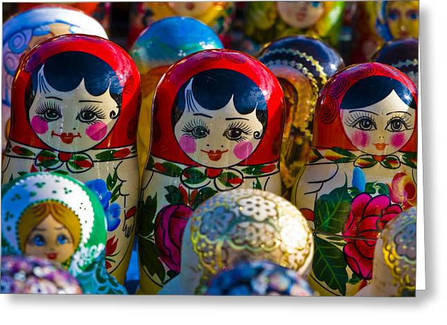 Nesting Greeting Cards - Matryoshka Doll  . . .  Russian Nesting Doll Greeting Card by Juli Scalzi