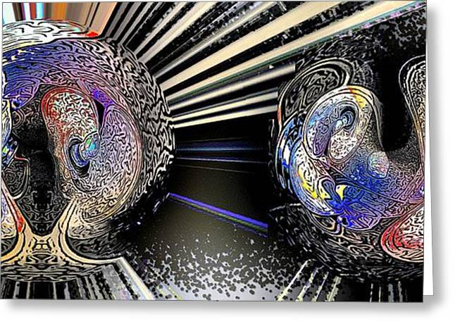 Anti Greeting Cards - Matter in Flux Greeting Card by Ron Bissett