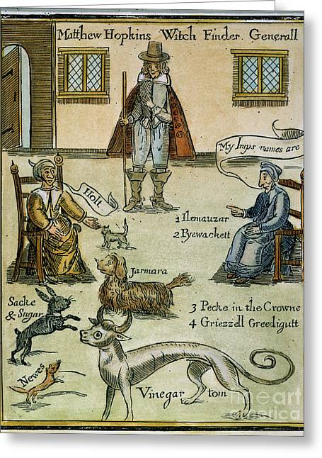 Discrimination Greeting Cards - MATTHEW HOPKINS (d. 1647) Greeting Card by Granger