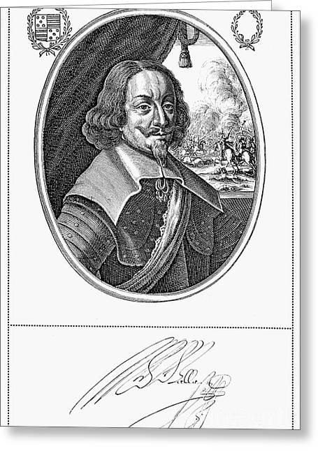 Autograph Greeting Cards - Matthias Gallas (1584-1647) Greeting Card by Granger