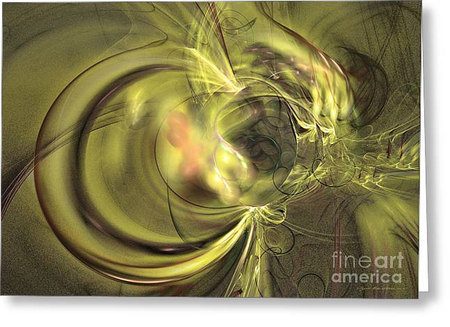 Interior Still Life Mixed Media Greeting Cards - Maturation - abstract art Greeting Card by Abstract art prints by Sipo