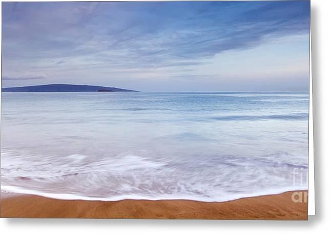 ; Maui Greeting Cards - Maui Beach Twilight Greeting Card by Dustin K Ryan
