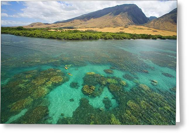 Maui Landscape Greeting Card by Ron Dahlquist - Printscapes