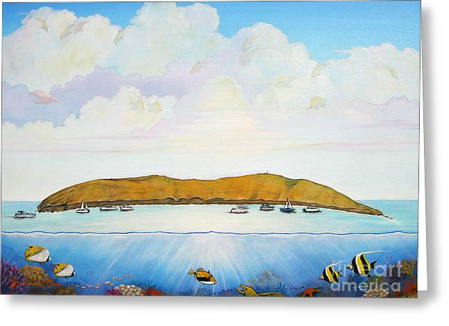 Snorkel Greeting Cards - Maui Molokini Magic Greeting Card by Jerome Stumphauzer