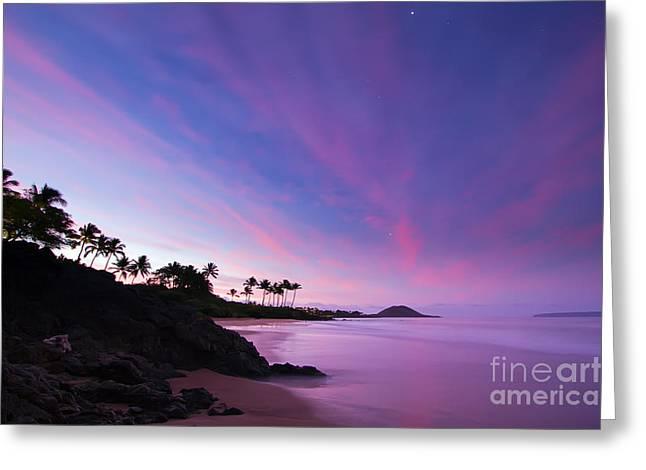 Twilight Greeting Cards - Maui Twilight Sunrise Greeting Card by Dustin K Ryan