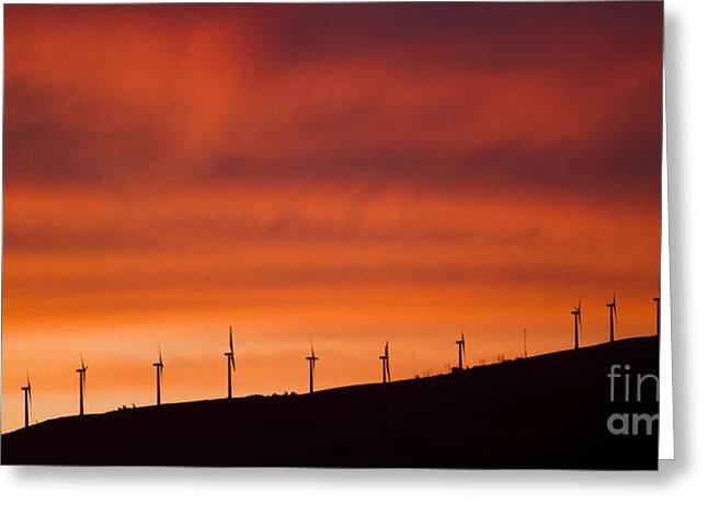 Wind Turbines Greeting Cards - Maui Wind Power Greeting Card by Dustin K Ryan