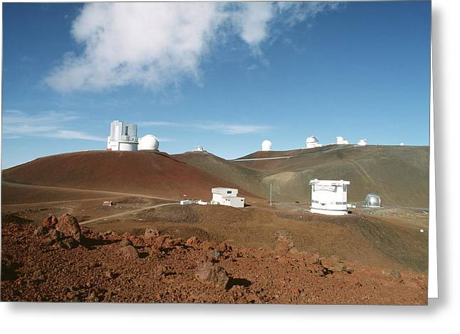 Telescope Dome Greeting Cards - Mauna Kea Telescopes Greeting Card by Magrath Photography