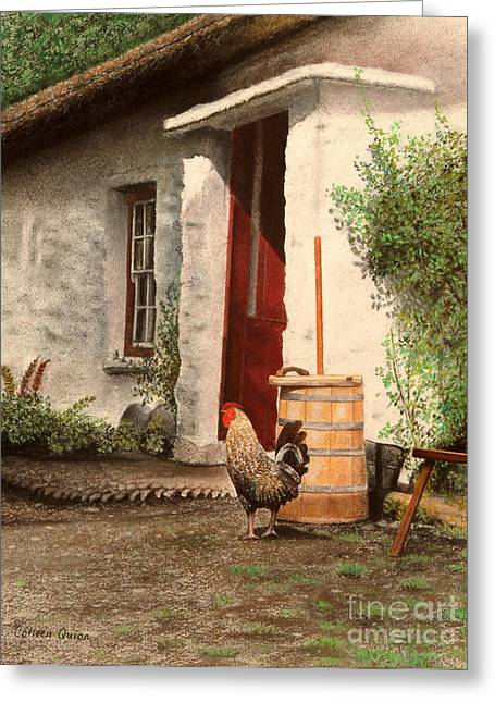 Rural Scene Pastels Greeting Cards - Maureens Cottage Greeting Card by Colleen Quinn