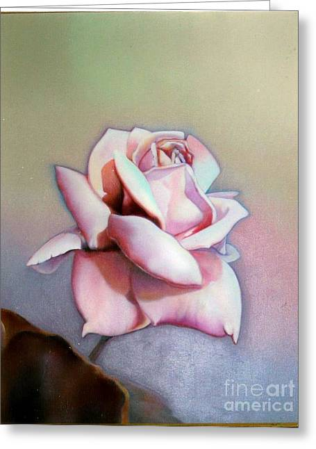 Mauve Rose Greeting Card by Geri Jones
