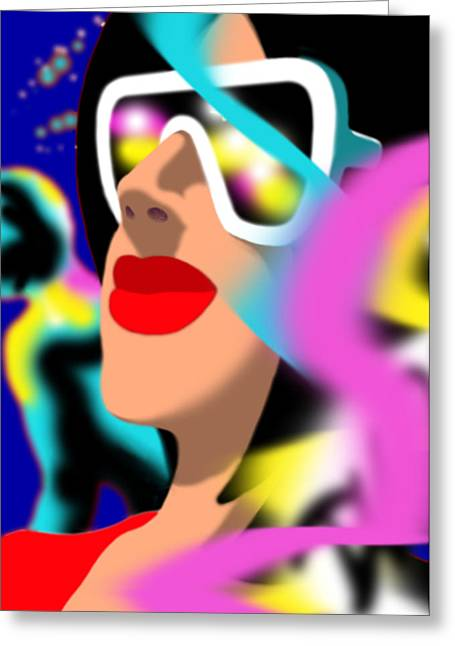 Dkzn Greeting Cards - Maxine Midnight Greeting Card by Tom Dickson