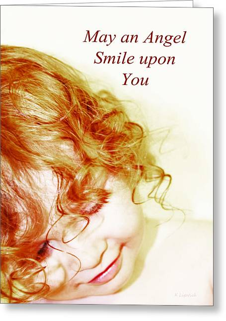 May An Angel Smile Upon You - Greeting Card And Print Greeting Card by Kerri Ligatich