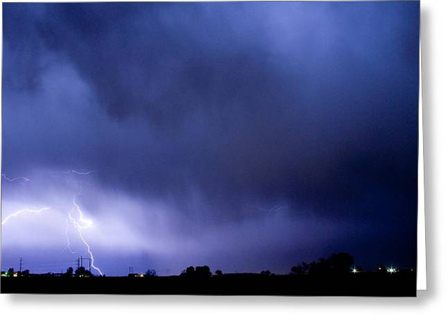 Images Lightning Greeting Cards - May Showers 3 in Color - Lightning Thunderstorm 5-10-2011 Boulde Greeting Card by James BO  Insogna