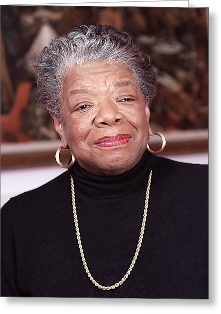 Author Greeting Cards - Maya Angelou Greeting Card by Robert Ponzoni