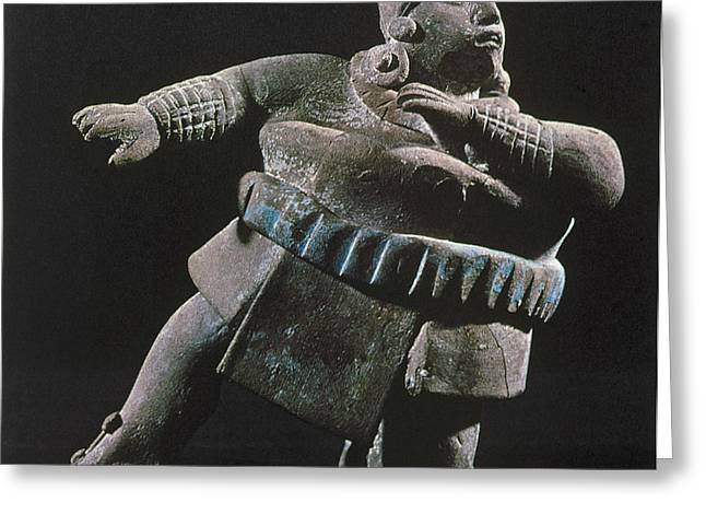 Paint Photograph Greeting Cards - Mayan Athlete, 700-900 A.d Greeting Card by Granger