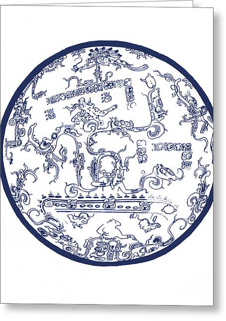 Star Chart Greeting Cards - Mayan Cosmos Greeting Card by Science Source