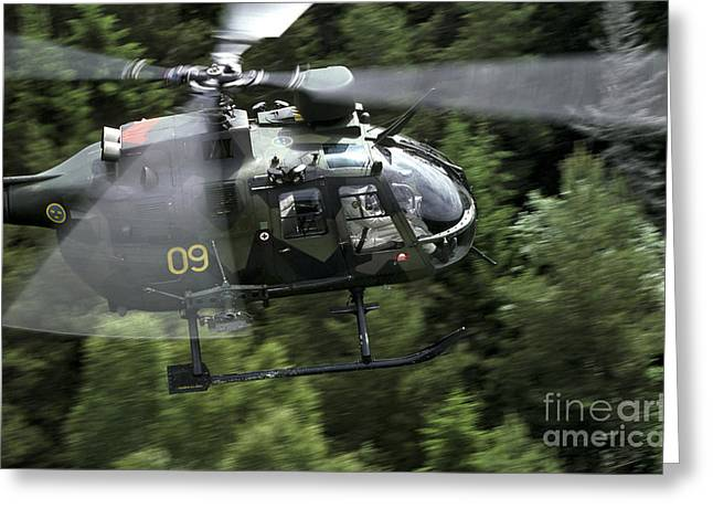 Utility Aircraft Greeting Cards - Mbb Bo 105 Helicopter Of The Swedish Greeting Card by Daniel Karlsson