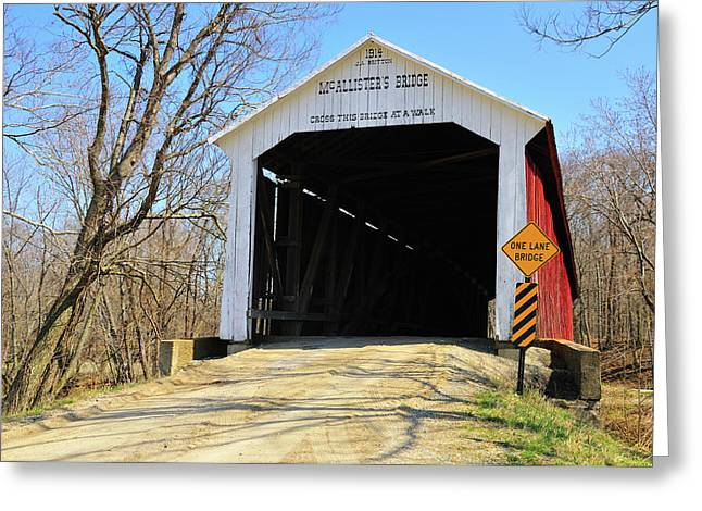 Rural Indiana Greeting Cards - Mcallisters Bridge Greeting Card by David Arment