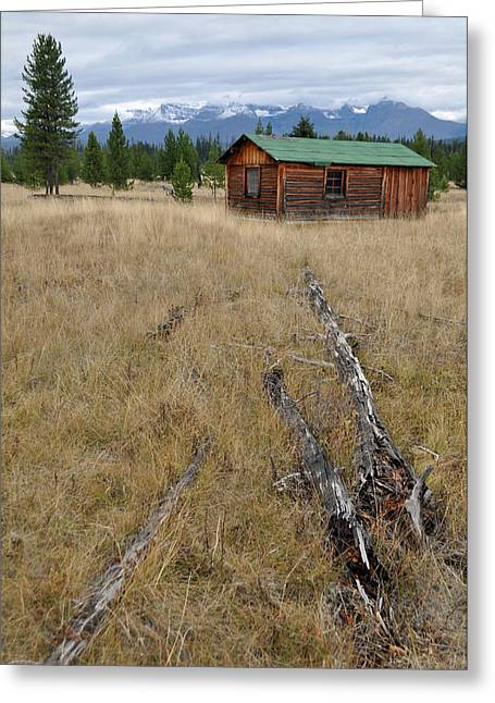 Mccarthy Family Cabin Glacier National Park Greeting Card by Bruce Gourley