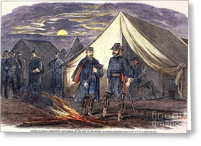 Ambrose Burnside Greeting Cards - McCLELLAN & BURNSIDE, 1862 Greeting Card by Granger