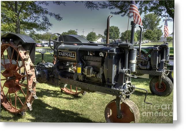 International Tractor Greeting Cards - McCormick Deering Farmall F-12 Greeting Card by David Bearden