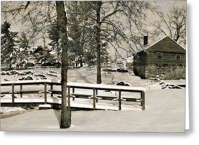 Grist Mill Greeting Cards - McCormicks Farm February 2012 Greeting Card by Kathy Jennings