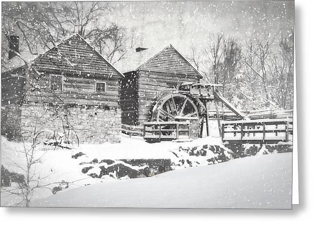 Snow Scenes Greeting Cards - McCormicks Farm February 2012 Series VI Greeting Card by Kathy Jennings