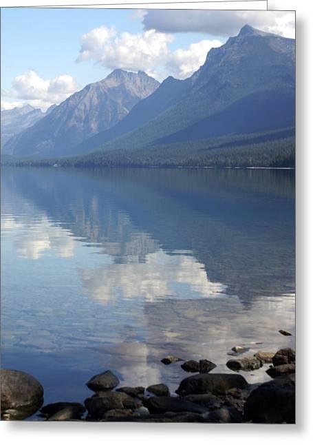 Lake Mcdonald Greeting Cards - McDonald Reflection Greeting Card by Marty Koch