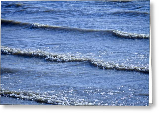 Longmont Greeting Cards - McIntosh Lake Waves Abstract Longmont Boulder County Colorado Greeting Card by James BO  Insogna