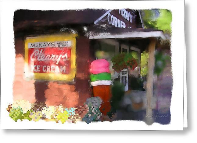 Northwoods Greeting Cards - McKays Corner Store Greeting Card by Geoff Strehlow