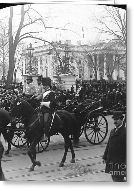 Inauguration Greeting Cards - McKINLEY INAUGURATION, 1901 Greeting Card by Granger