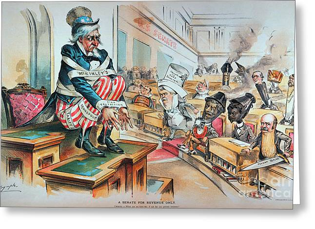 Monopoly Greeting Cards - McKINLEY TARIFF ACT, 1894 Greeting Card by Granger