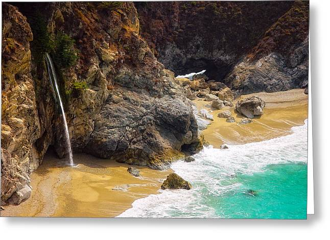 Recently Sold -  - Big Sur Ca Greeting Cards - McWay Falls California Greeting Card by Utah Images
