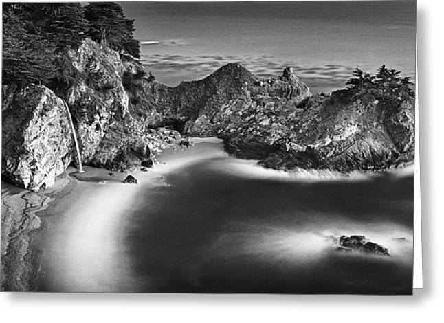 Recently Sold -  - Pfeiffer Beach Greeting Cards - McWay Falls Greeting Card by Edward Mendes