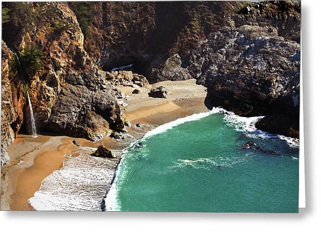 Best Sellers -  - Tidal Photographs Greeting Cards - McWay Falls Greeting Card by Floyd Hopper
