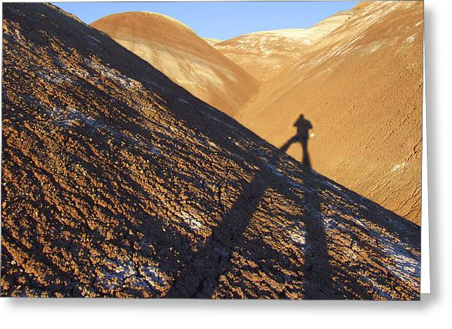 Shadows Greeting Cards - Me and My Shadow - Utah Greeting Card by Mike McGlothlen