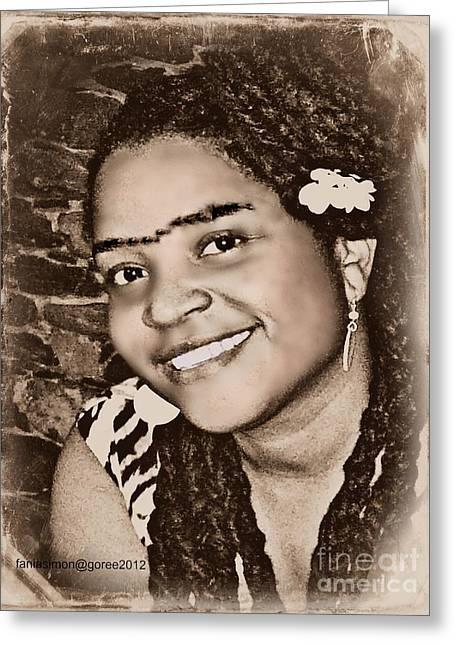 Diaspora Mixed Media Greeting Cards - Me as Frida Greeting Card by Fania Simon