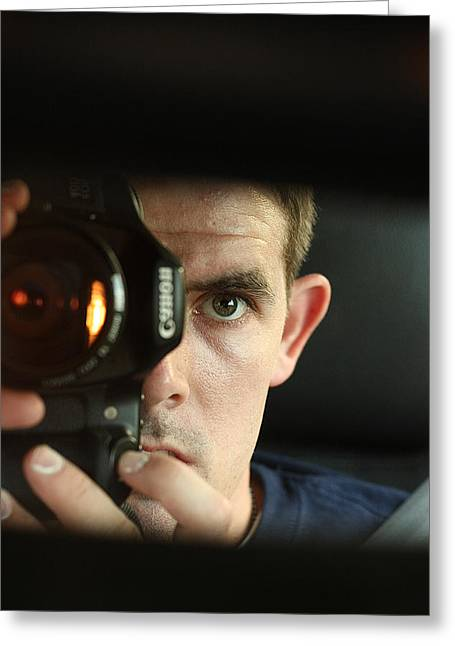 Self-portrait Photographs Greeting Cards - Me  Greeting Card by David Paul Murray