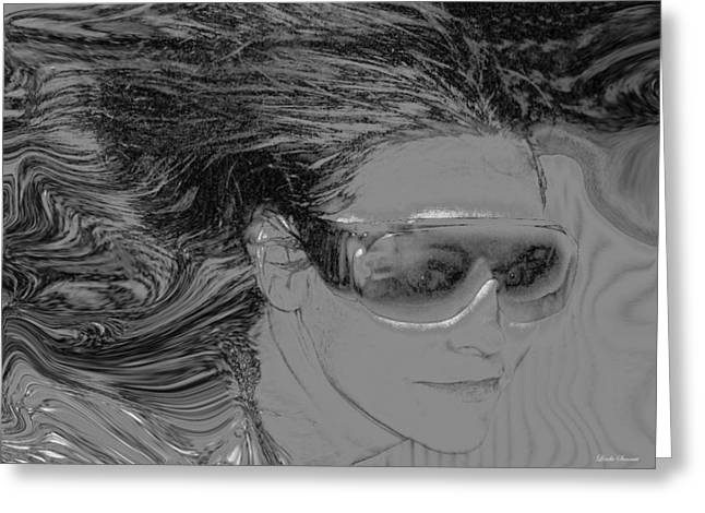 Best Sellers -  - Self-portrait Photographs Greeting Cards - Me Greeting Card by Linda Sannuti