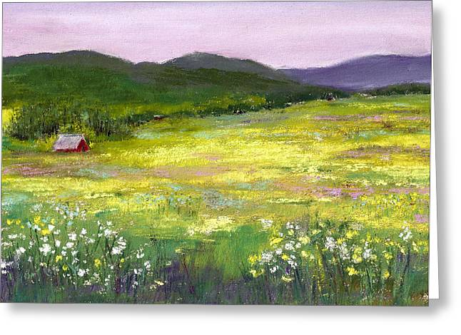 David Patterson Greeting Cards - Meadow of Flowers Greeting Card by David Patterson