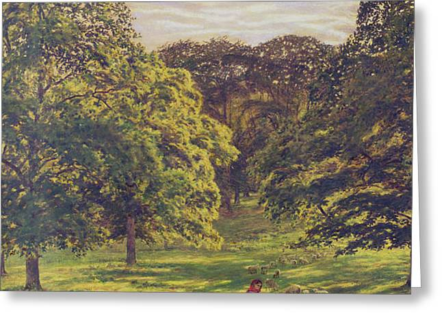 Meadow Scene  Greeting Card by John William Buxton Knight