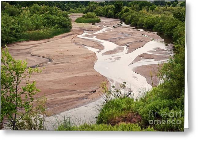 Meandering Sky Greeting Card by Fred Lassmann