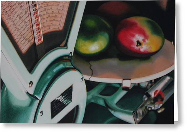 Mango Paintings Greeting Cards - Measured Greeting Card by Denny Bond
