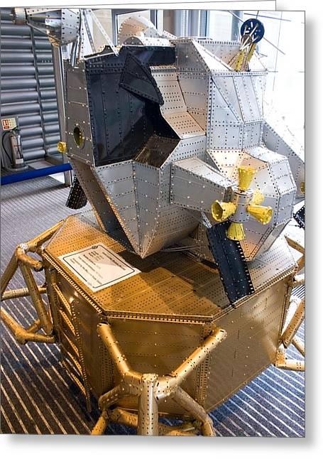 Model Kits Greeting Cards - Meccano Apollo Lunar Module Greeting Card by Mark Williamson