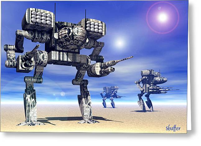 Science Greeting Cards - 501st Mech Trinary Greeting Card by Curtiss Shaffer