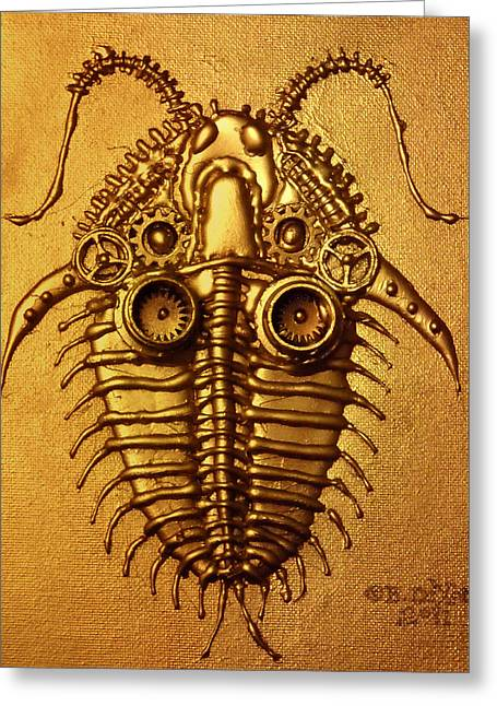 Mecha-trilobite 3 Greeting Card by Baron Dixon